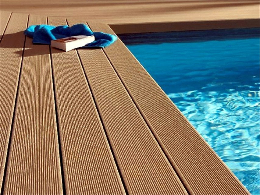 140x25mm Anti Slip Swimming Pool Decking Wood Flooring